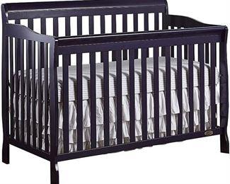 Dream On Me Ashton 5-in-1 Convertible Crib, Navy