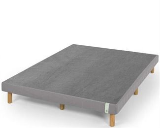 4 Inch Wood Box Spring Mattress Foundation Bed Supports All Mattress Types Queen