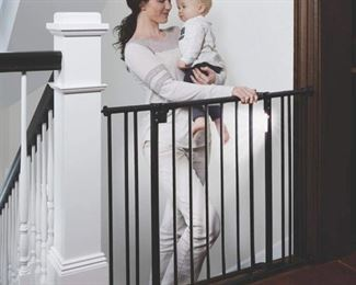 North States 38.25  Wide Light The Way Baby Gate: Light-Sensing LEDs add Extra Safety at Night