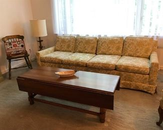 Sofa, Coffee Table, Lamp