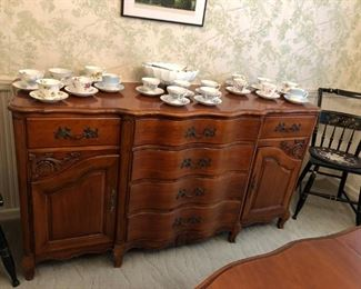 Sideboard, Cups & Saucers, Chairs