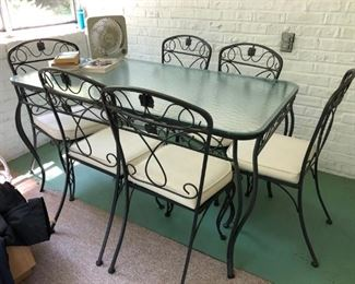 Iron Patio Table & Chairs
