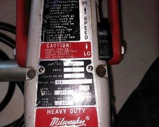 Garage: Milwaukee Hole Hog 1675-1 Drill