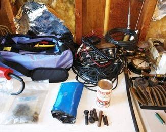 Garage:  Auto Safety Kit, CB Radios, Greenlee knockout punch set 723bb