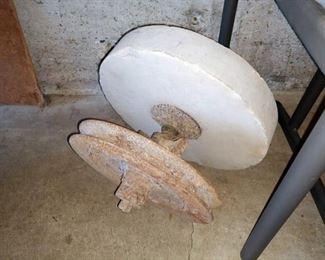 Garage: large round sharpening stone