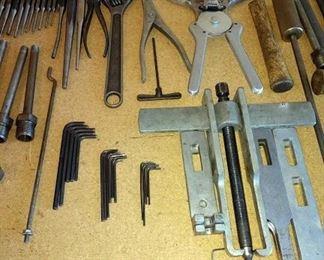 Garage:  Allen Wrenches, Proto Puller Set, Zim Piston Ring Expander for Diesel Pistons