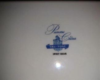 Kitchen/Dining Room:  Princess China Sweet Briar