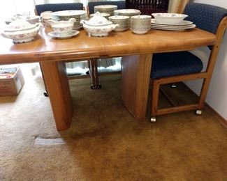 Kitchen/Dining Room:  Princess China Sweet Briar, Table w/4 Chairs