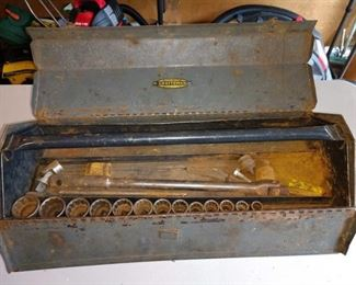 "Garage: Craftsman Tool Box w/1/2"" Sockets"