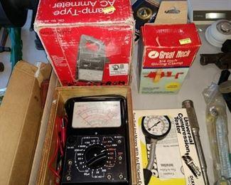 Garage: Sanwa Meter, Micmonta Meter, Compression Tester