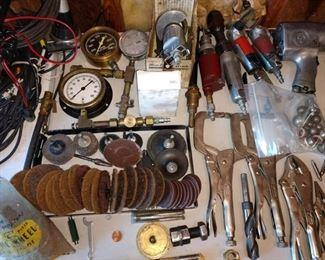 Garage: Gauges, Sander Pads, etc. Vise Grips