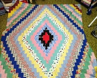 1st Bedroom Right:  Diamond Shaped Quilt Top