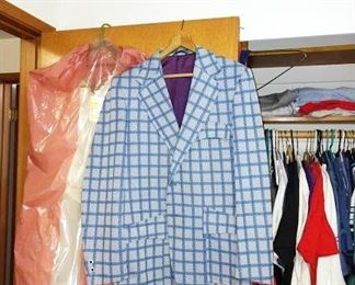 1st Bedroom Right:  Raise your sights men.  This is Sports Coat is in great shape.  Be ready for those reunion parties.  Clothes, Mens, Womens, Wedding Dress