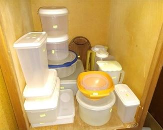 Basement:  Plastic Containers