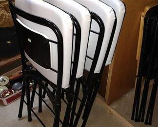 Basement:  4 Folding Chairs-Padded