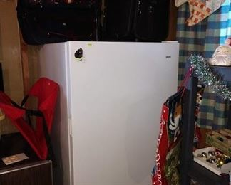 Basement:  Freezer, Suitcases