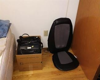 2nd Bedroom Right: Purses, Massage Seat