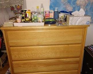 2nd Bedroom Center: Dresser, Lotion, Soap, Other Bathroom Stuff