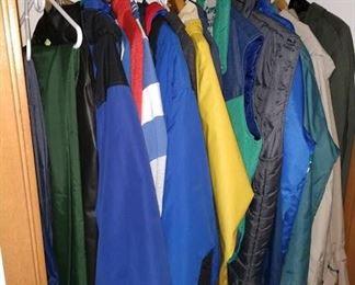 Hall Closet: Ski Jackets, Pendelton Jacket (Like New), Cold Weather Jackets