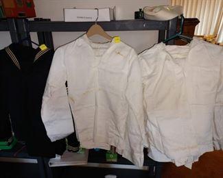 Basement:  Navy Uniforms--Whites--Dress Blues