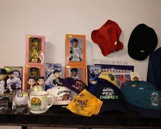 Dining Room:  Mariners Stuff, Sonic Stuff, U of W stuff, Seahawks Stuff