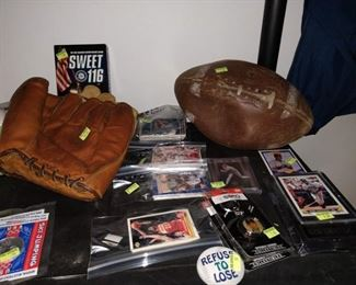 Dining Room:  Baseball Mitts,  Ken Griffey, Jr. Cards, Football cards, Basketball cards, Video Sweet 116 Mariners, Other Stuff
