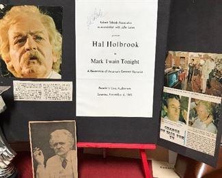 Playbill signed by Hal Holbrook  .. Mark Twain Tonight