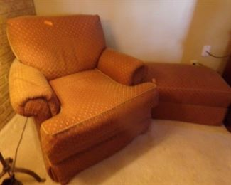 Comfortable Side Chair with matching ottoman