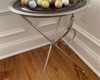 """6. Metal Table & Chinese Checkers Game (15"""" x 21"""")"""