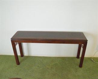 Drexel sofa table.