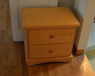 Maple nightstand. Easy slid drawers all wood. NO VENEER!