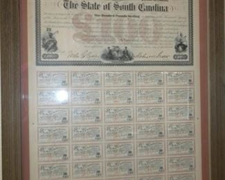 ANTIQUE STERLING CERTIFICATES