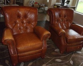 Leather Recliners-sold the one on the right.
