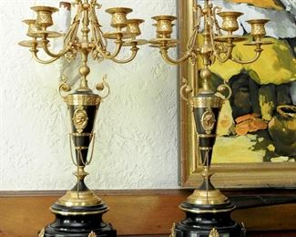 Louis XVI style antique French candelabras
