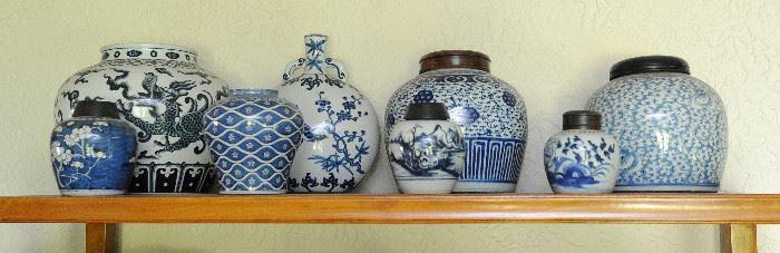 Ginger jar collection