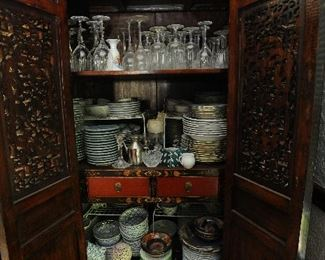 Lots of stemware and china - including Herend!