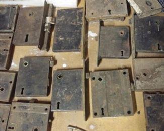 Many Victorian era locks and keys