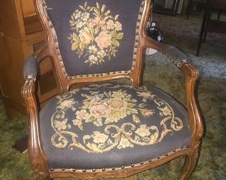 Hand stitched victorian chair