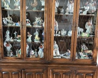 Large cabinet filled with Herend porcelains
