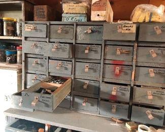 vintage parts drawers