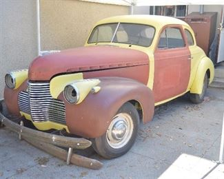 1940 Chevy Coupe Project Car.