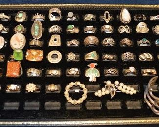 SOME of the Rings, Costume, Native American, & Sterling