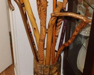 Super cool hand carved canes