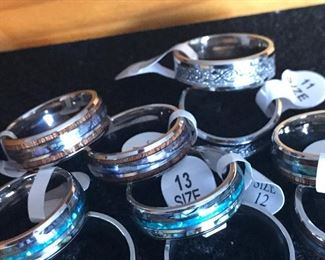 Tungsten Hawaiian and Celtic Rings