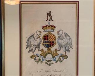 29. Set of 3 Crest Artworks (20'' x 27'')