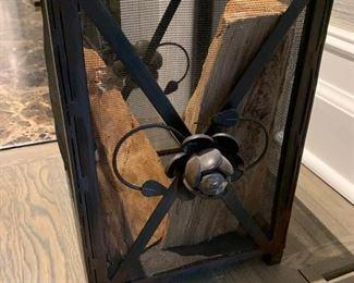 66. Metal Screened Basket (11'' x 10'' x 15'')
