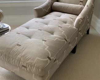 79. Custom Silk Down Cushion Chaise Lounge (34'' x 68'' x 36'')