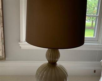 81. Art Glass Lamp w/ Lucite Base (31'')