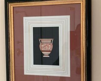 105. Pair of Grecian Urn Artwork (15'' x 17'')