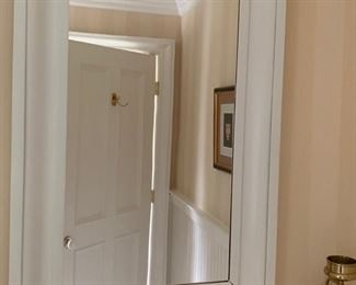 103. White Framed Mirror (25'' x 36'')